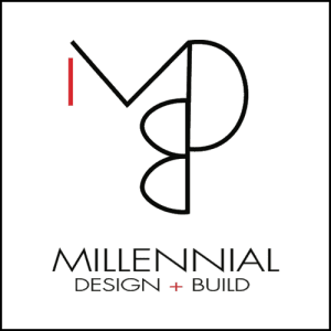 Millennial Design + Build Logo
