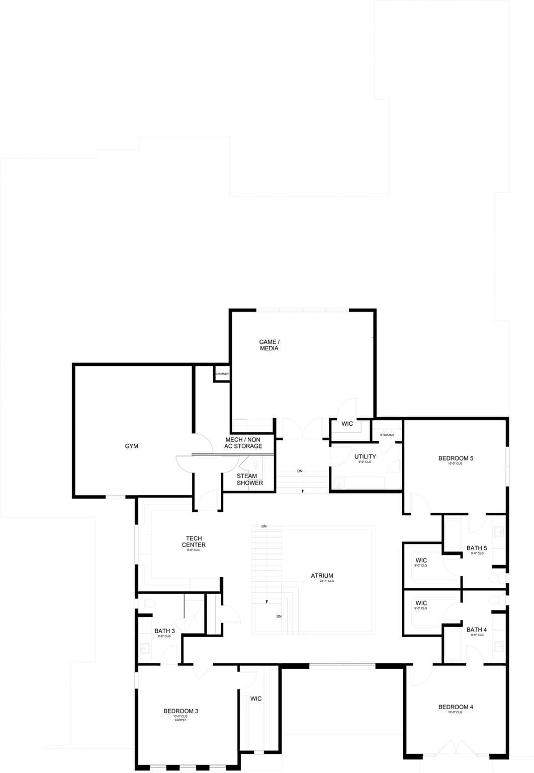 New Home Builders Midwick floor plan 2floor - Millennial Design + Build, Custom Home Builders in Dallas Texas, modern style homes, Property Evaluator, Interior Designers, using BIM Technology and Home 3D Model.