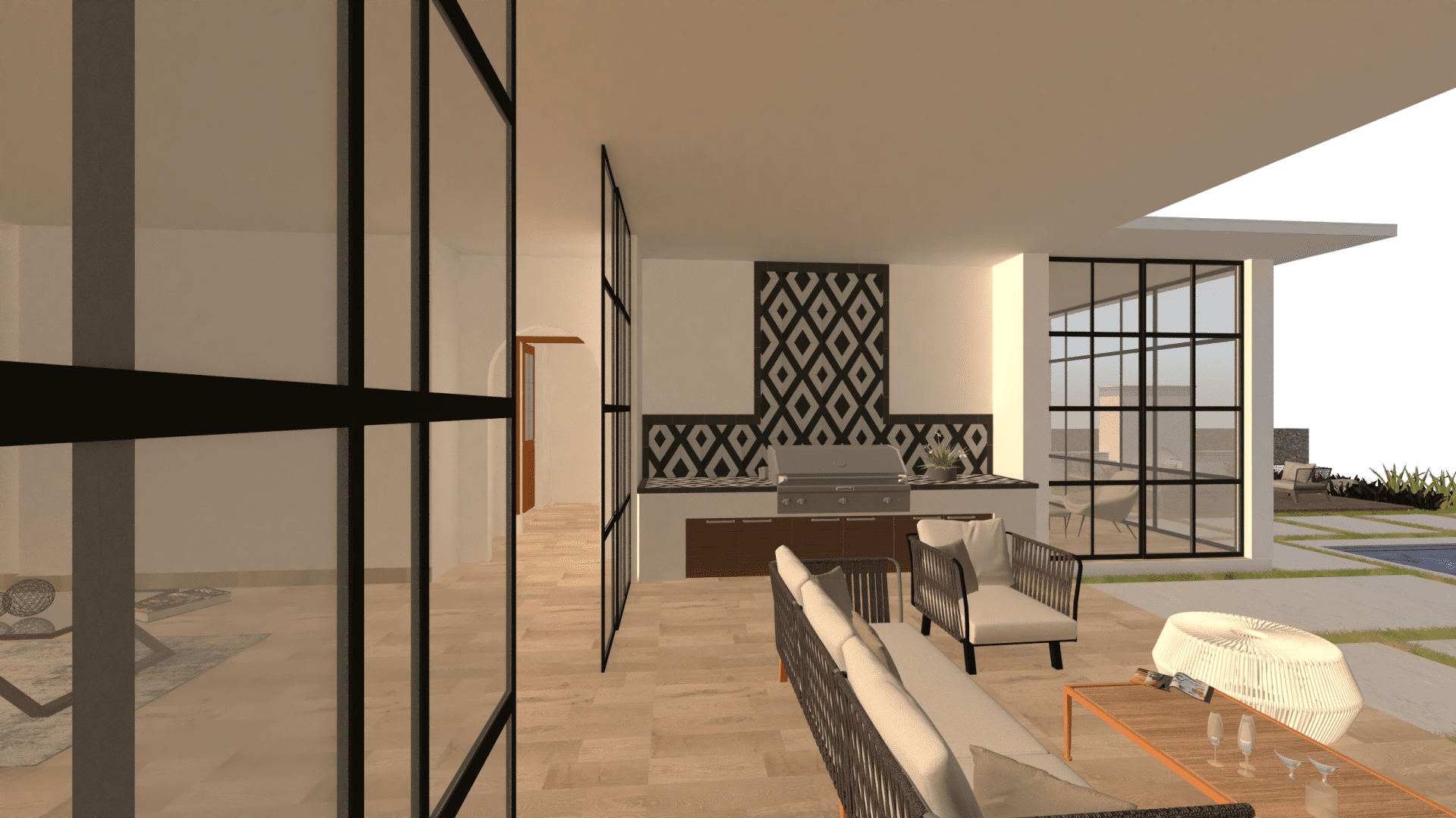 New Home Builders Midwick grill - Millennial Design + Build, Custom Home Builders in Dallas Texas, modern style homes, Property Evaluator, Interior Designers, using BIM Technology and Home 3D Model.