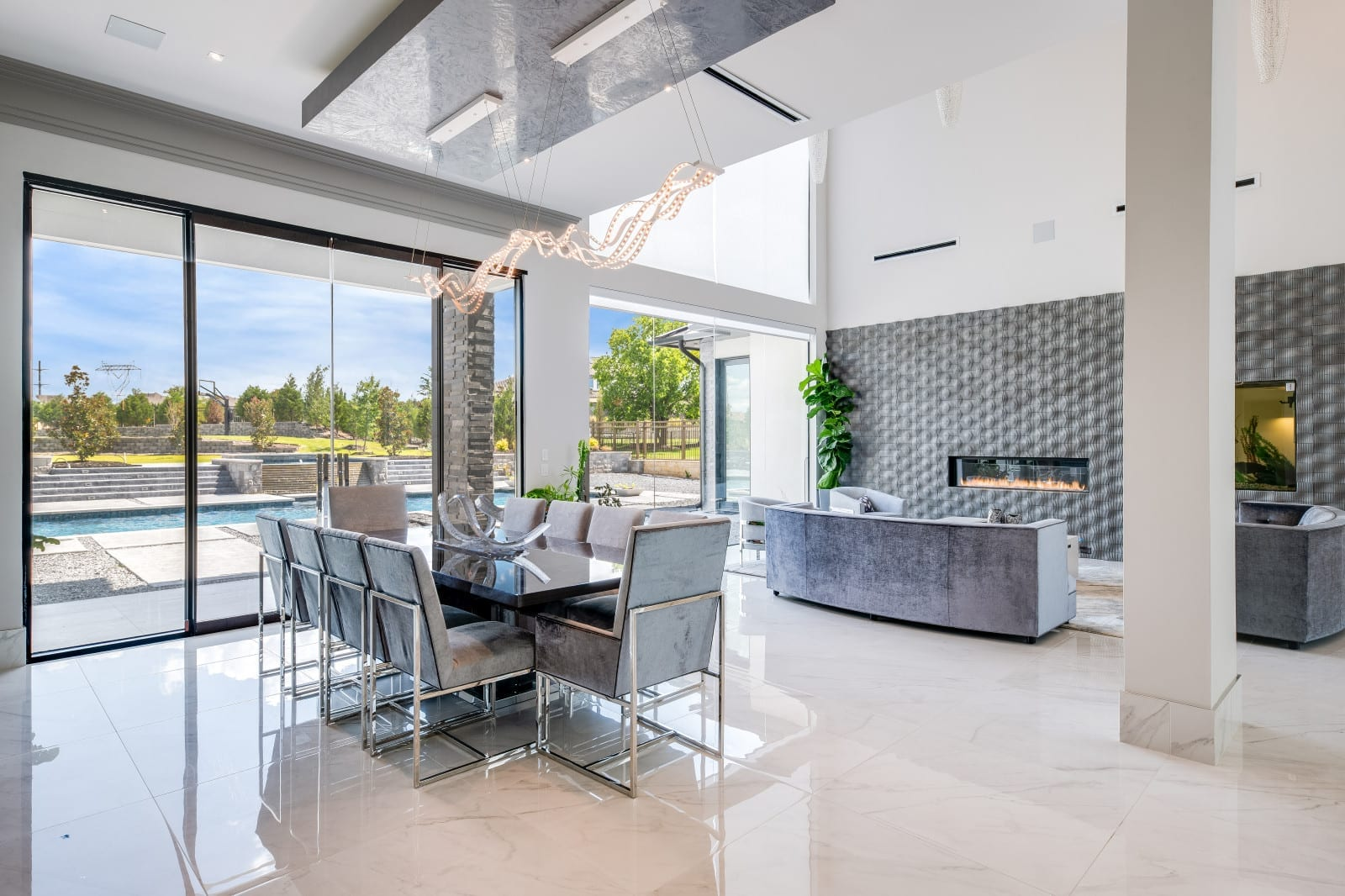 a beautiful frisco interior design from modern home builders in Frisco TX at Millennial Design and Build