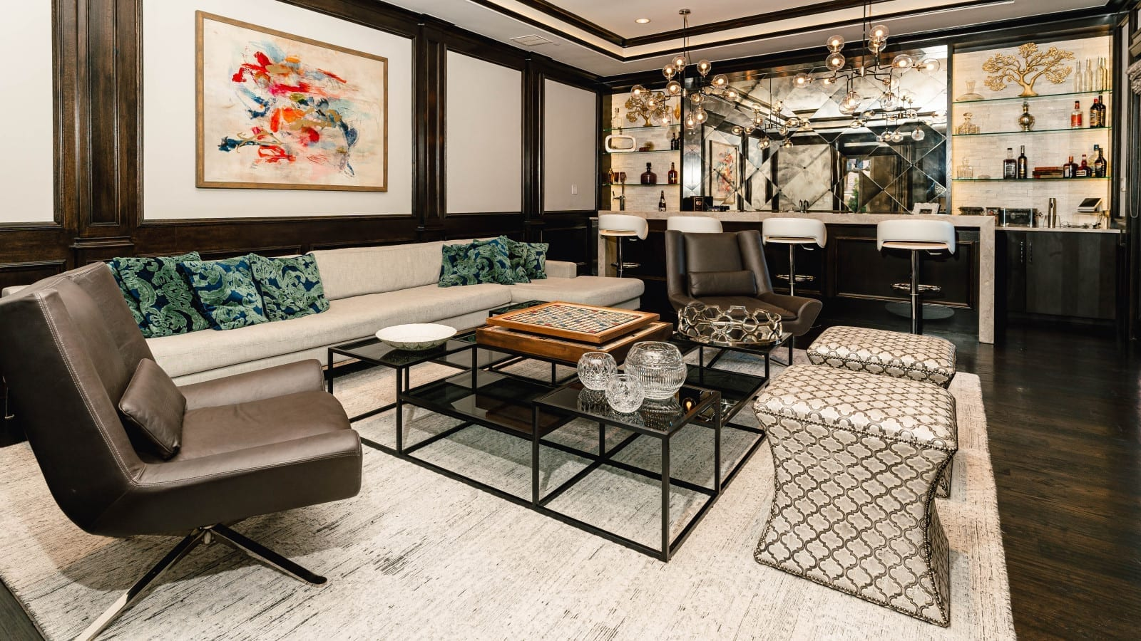 transitional home interior design from custom home builders at Millennial Design + Build