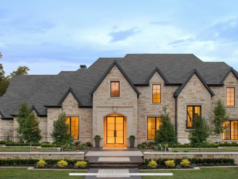 transitional style home designed by modern home builders in Frisco Texas