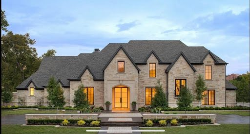 traditional style home with transitional architecture in frisco tx
